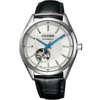 CITIZEN星辰 限量鏤空紳士機械錶(白x黑/40m) NH9111-11A