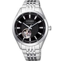 CITIZEN星辰 限量鏤空紳士機械錶(黑/40m) NH9110-81E