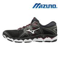 【MIZUNO 美津濃】WAVE SKY 2 女慢跑鞋 黑 J1GD180243