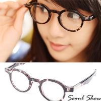 seoul show首爾秀 復古小版圓框平光眼鏡 6768灰琥珀