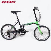KHS功學社 2019 F20-T日規20吋8速鉻鉬鋼折疊單車-霧黑/綠