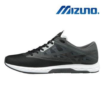 【MIZUNO 美津濃】WAVE SONIC 2 男馬拉松鞋 灰黑 U1GD193409
