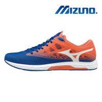 【MIZUNO 美津濃】WAVE SONIC 2 男馬拉松鞋 藍橘 U1GD193401