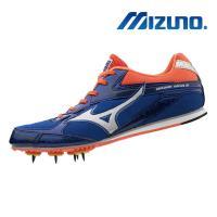 【MIZUNO 美津濃】BRAVE WING 3 田徑釘鞋 藍橘 U1GA183005