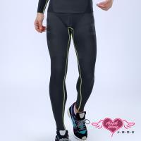 天使霓裳 運動褲 流線型男 透氣彈力運動塑身長褲(黑灰M~XL) RQ05