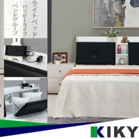【KIKY】吉岡-皮質雙開附插座床頭箱(雙人5尺)