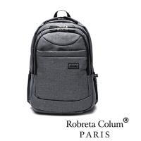 Roberta Colum - 嚴選防潑水帥性多功能雙肩後背包-共2色