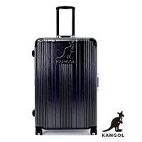 DF travel - 英國袋鼠優雅直線立體髮絲紋鋁框20吋行李箱-共2色