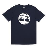 Timberland男款深藍色大樹Logo圓領T-ShirtA1NAIK52