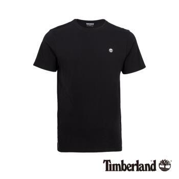 Timberland男款黑色左胸品牌Logo圓領T-shirtA1W7U001