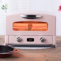 日本Sengoku Aladdin 千石阿拉丁 復古多用途烤箱(內附烤盤)-(粉紅色)