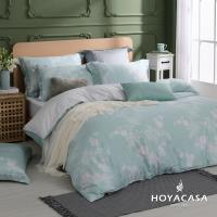HOYACASA光陰歲月 加大四件式抗菌60支天絲兩用被床包組