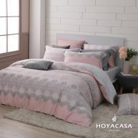 HOYACASA蕾莉亞 雙人四件式抗菌60支天絲兩用被床包組