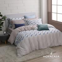 HOYACASA時光旅人 雙人四件式抗菌60支天絲兩用被床包組