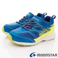 MOONSTAR-日本月星頂級競速童鞋 輕量防滑系列 SSJ8915藍(中大童段)