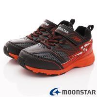 MOONSTAR-日本月星頂級競速童鞋 輕量防滑系列 SSJ8916黑紅(中大童段)