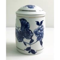青花皇后楊莉莉-陶瓷茶葉罐~白金
