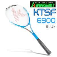 Kawasaki KTSF6900 碳纖維穿線網球拍(藍)