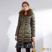 MONS國際精品唯一回饋蓄暖大衣-綠