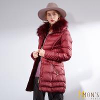 MONS國際精品唯一回饋蓄暖大衣-棗紅