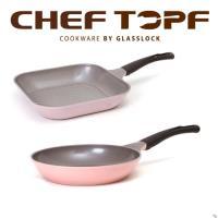 韓國Chef Topf 粉彩玫瑰薔薇雙鍋組 28公分+26公分不沾平底鍋