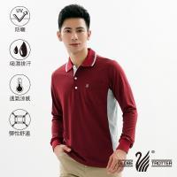 【遊遍天下】MIT男款抗UV吸濕排汗機能POLO長衫GL10023磚紅