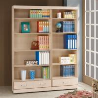 【時尚屋】[5U6]白橡色3x6尺二抽開放書櫃5U6-201-263