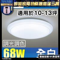 Panasonic 國際牌 LED (第四代) 調光調色遙控燈 LGC81101A09 全白燈罩 68W 110V