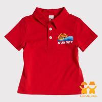 天使霓裳-童裝 晴朗海灘 潮流Polo衫 (紅) BSH13349