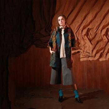 【PANGCHI 龐吉】專櫃精品義大利針絨羊毛大衣(1622022-45/35)