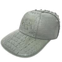 【M2ND】奢華時尚鱷魚棒球帽(灰色)
