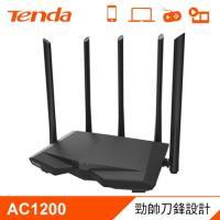 【Tenda 騰達】AC7 AC1200 雙頻無線路由器 黑鷹戰機 【贈收納購物袋】