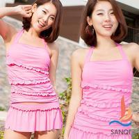 SANQI三奇 涼夏派對 兩件式泳裝(粉M~XL) SQ3065