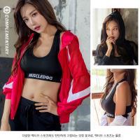 Com.P 卡曼-現+預 韓版鏤空連帽瑜伽健身3件套裝(運動外套+運動內衣+修身長褲)