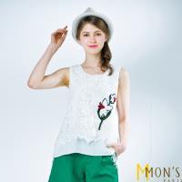 MONS國際名品花卉蕾絲上衣
