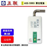 五聯   ASE-5993 - 數位控溫強制排氣熱水器 (FE式)