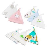 【6件裝】嬰兒帽 嬰兒純棉胎帽