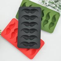 iSFun 俏皮鬍子 矽膠模型製冰盒 隨機色