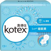 靠得住 純白体驗Super超吸洞夜用衛生棉28cm-13片x3包
