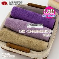 台灣興隆毛巾 35兩SPA店專用美容洗髮毛巾-深色系(12條裝 整打價)
