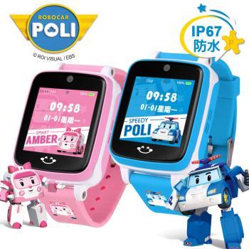 韓國正版授權《ROBOCAR POLI波力》IS愛思 防水視訊4G LTE定位兒童智慧手錶