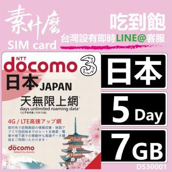 (素什麼) 沒話術 日本第一網卡 最強版4G上網 5天7GB保證夠流量 +附加吃到飽功能 日本網卡 日本SIM卡