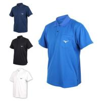 MIZUNO 男短袖POLO衫-短袖上衣 高爾夫 網球 美津濃