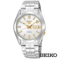 SEIKO精工   點金經典5號自動上鍊機械腕錶-白面x36.5mm SNKE81J1
