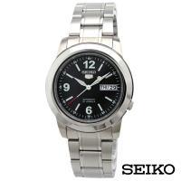 SEIKO精工   經典5號自動上鍊機械腕錶-黑面x38.4mm SNKE63J1