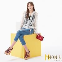 MONS法式唯美鏤空蕾絲造型外套