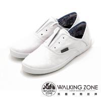 WALKING ZONE果漾YOUNG純棉帆布鞋休閒鞋 女鞋-純白