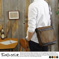 【TRICKSTER】日本品牌 斜背包 掀蓋包 B5 側背包 單肩包 復古皮革感 都會潮流【tr125】