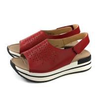 Kimo 涼鞋 厚底 女鞋 紅色 KAISF153037 no807