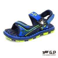 G.P 兒童舒適磁扣兩用涼拖鞋G9215B-藍色(SIZE:31-35 共三色)